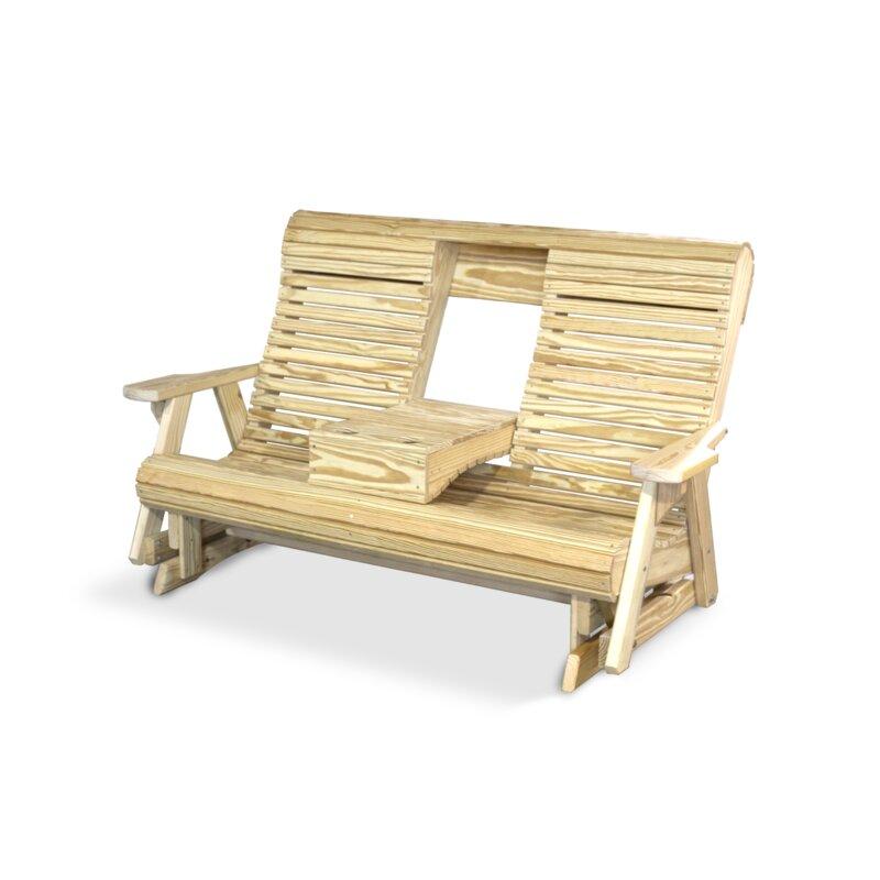 Yardcraft Wood Rollback Glider Bench