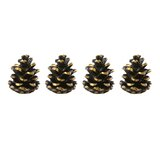 Alpine Metal Pinecone Place Card Holder (Set of 4) by Lenox