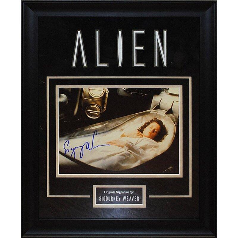 Alien Artist Series Framed Autographed by Sigourney Weaver