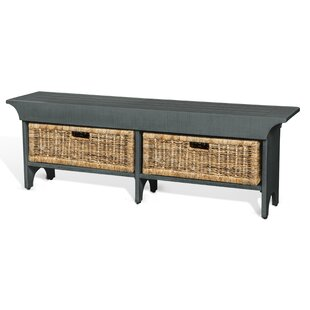 Gracie Oaks Andrew Wood Bench with Storage