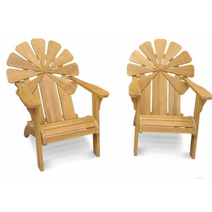 Veun Petals Teak Adirondack Chair (Set of 2)