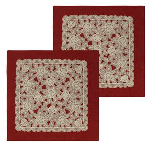 Gretta Lace and Embroidery Applique Pillow Cover (Set of 2)