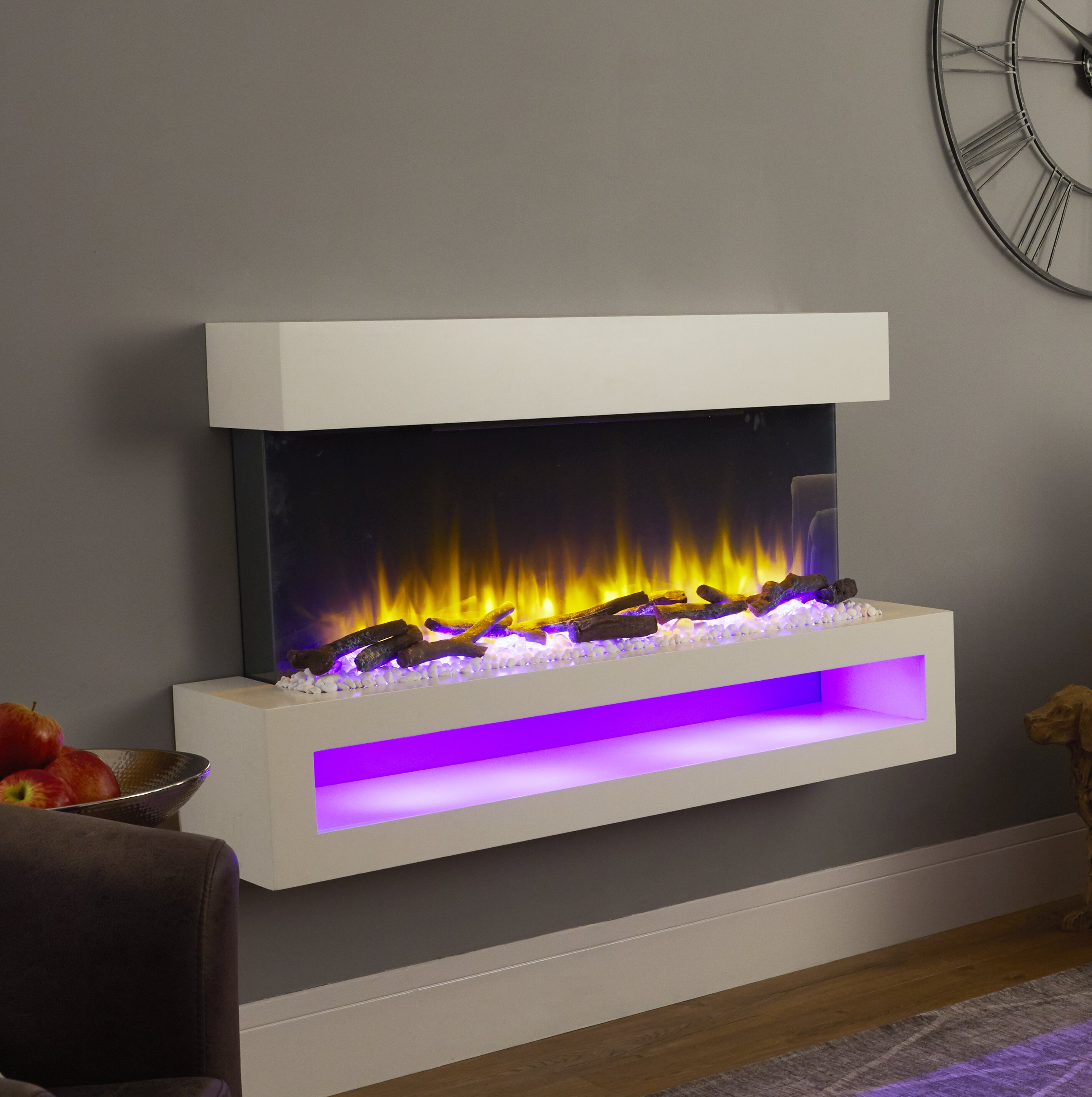 Belfry Heating Nickolas Wall Mounted Electric Fire Suite Reviews