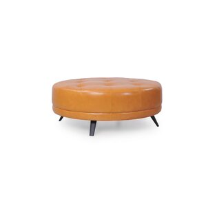 Jill Italian Leather Ottoman by Corrigan Studio