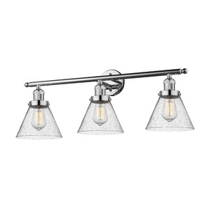 17 Stories Adelhard Cone 3-Light Vanity Light