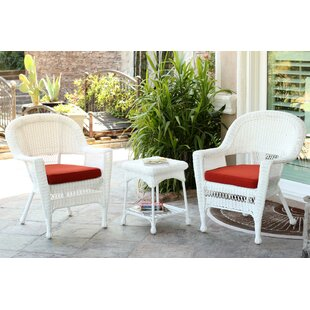 3 Piece Conversation Set With Cushions. By Wicker Lane
