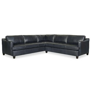 Taylor Leather Sectional by CR Laine