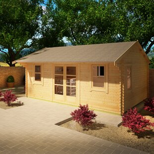 Dorsey 18 X 14 Ft. Tongue And Groove Log Cabin By Tiger Sheds