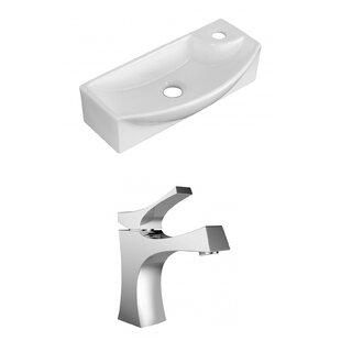 Royal Purple Bath Kitchen Ceramic Rectangular Vessel Bathroom Sink with Faucet