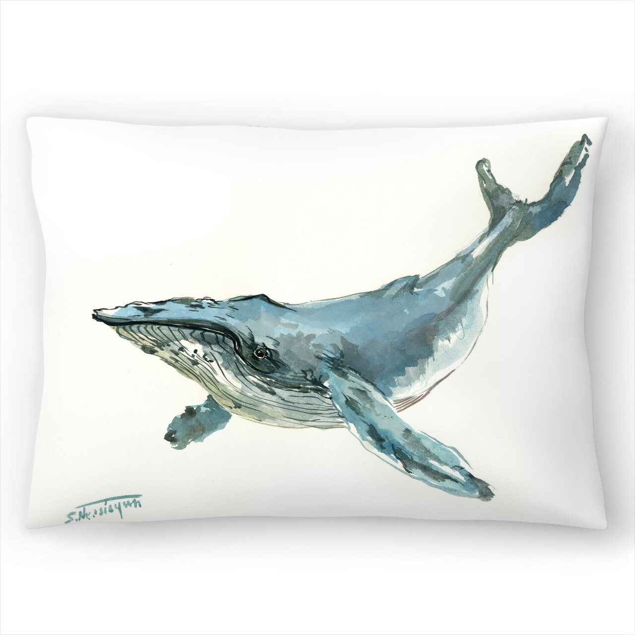 East Urban Home Humpback Whale Lumbar Pillow Wayfair