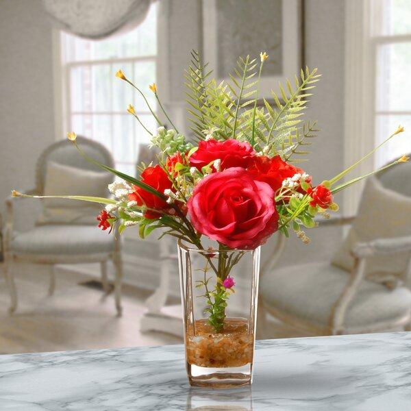 Red Roses In Vase Wayfair