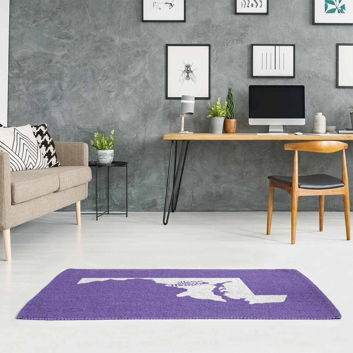 East Urban Home Baltimore Home Sweet Home Purple Area Rug Wayfair
