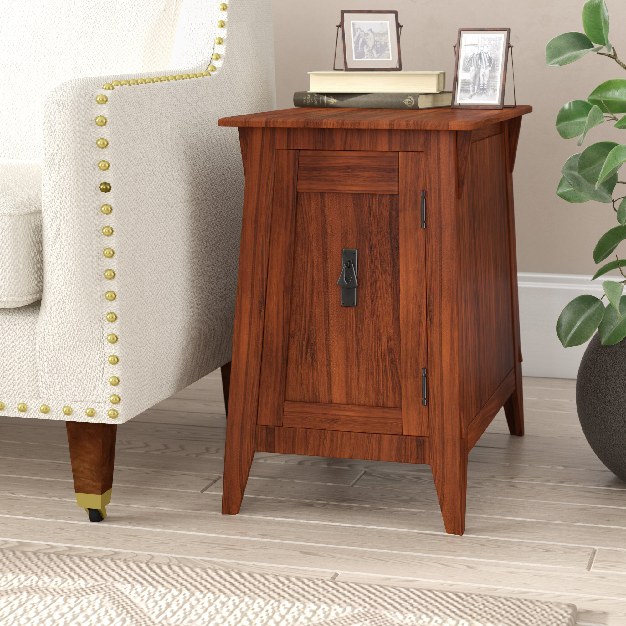 Charlton Home Wilfredo End Table With Storage Reviews Wayfair