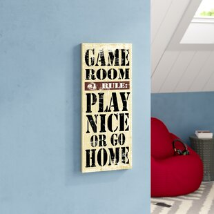 Game Room Rules Wall Décor by Latitude Run