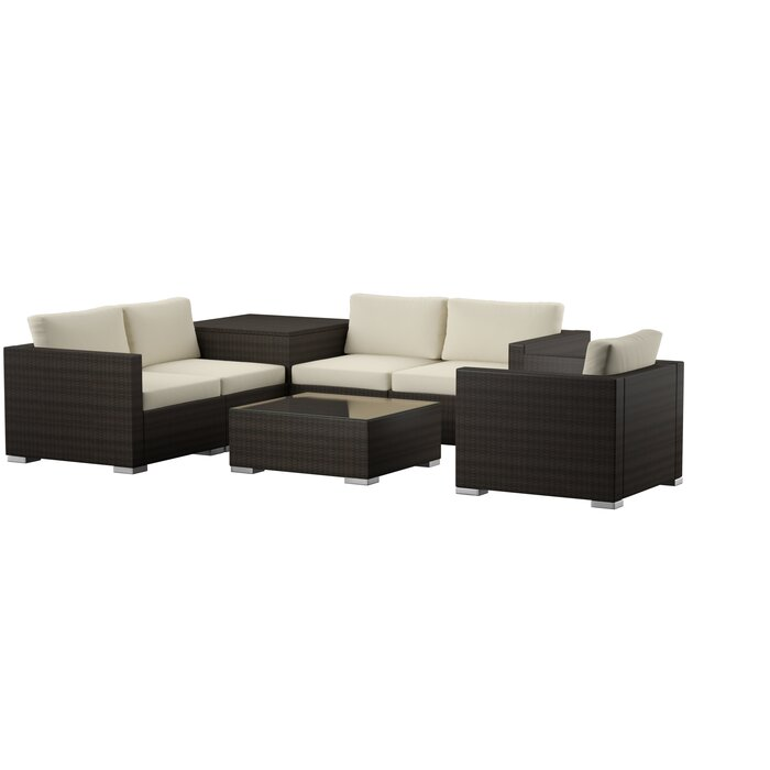 Pleasing Coast 11 Piece Rattan Sectional Seating Group With Cushions Unemploymentrelief Wooden Chair Designs For Living Room Unemploymentrelieforg