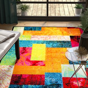Check Prices Lyons Multi-Colored Area Rug By Ebern Designs