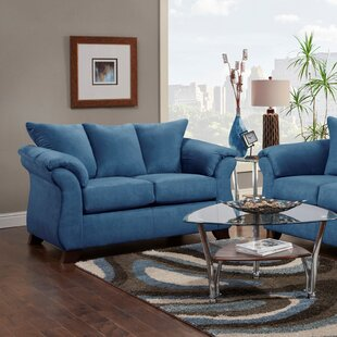 Maubara Blue Loveseat by Charlton Home #2