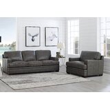 Eriksay 2 Piece Leather Living Room Set by Ebern Designs