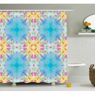Corvin Kaleidoscopic Design Shower Curtain + Hooks