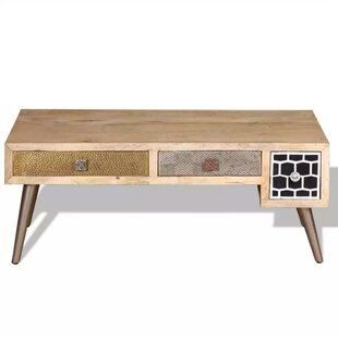 Peachey Coffee Table With Drawer By World Menagerie