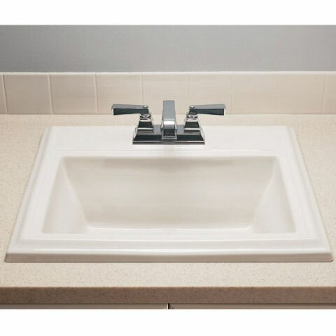 Town Square Ceramic 24 Rectangular Drop In Bathroom Sink With Overflow