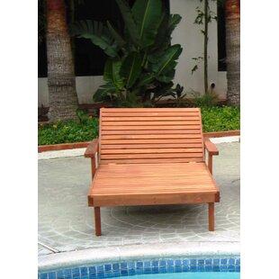 Brayden Studio Thibeault Rustic Wood Wide Chaise Lounge