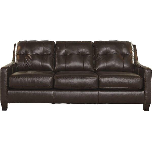 Mahogany Wood Leather Sofa Wayfair - Mahogany leather sofa