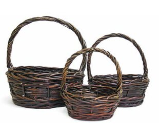 3 Piece Wicker Basket Set by August Grove