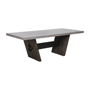 17 Stories Deon Solid Wood Dining Table