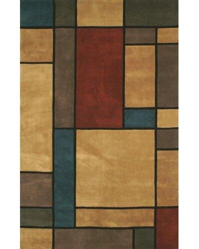 American Home Rug Co Casual Contemporary Geometric Hand Tufted Wool Orange Green Area Rug Reviews Wayfair