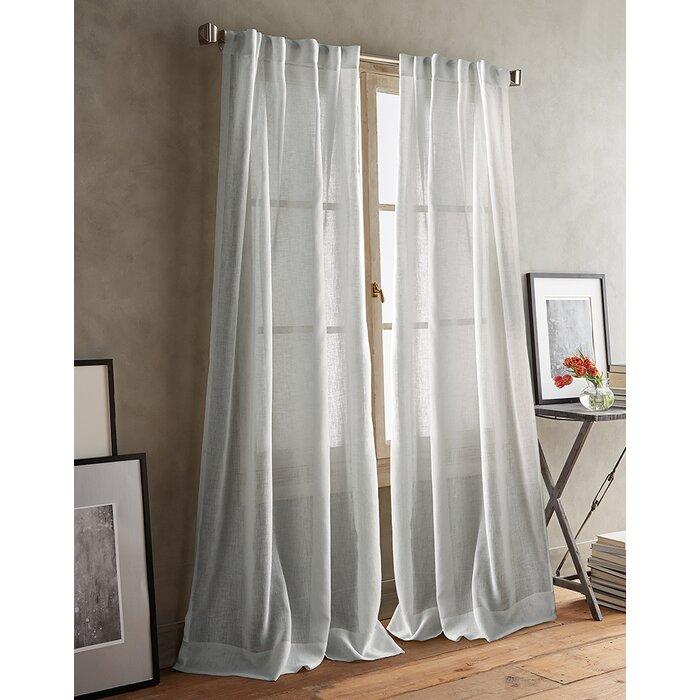 Paradox Back Tab Solid Sheer Curtain Panels
