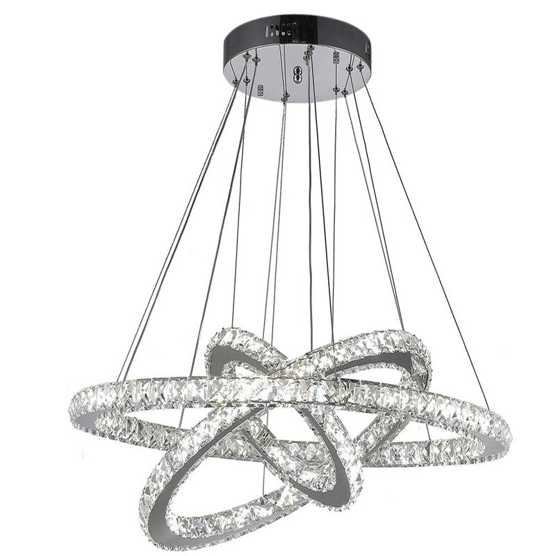 Everly Quinn Mcnamee 3 Light Unique Tiered Led Chandelier Reviews Wayfair