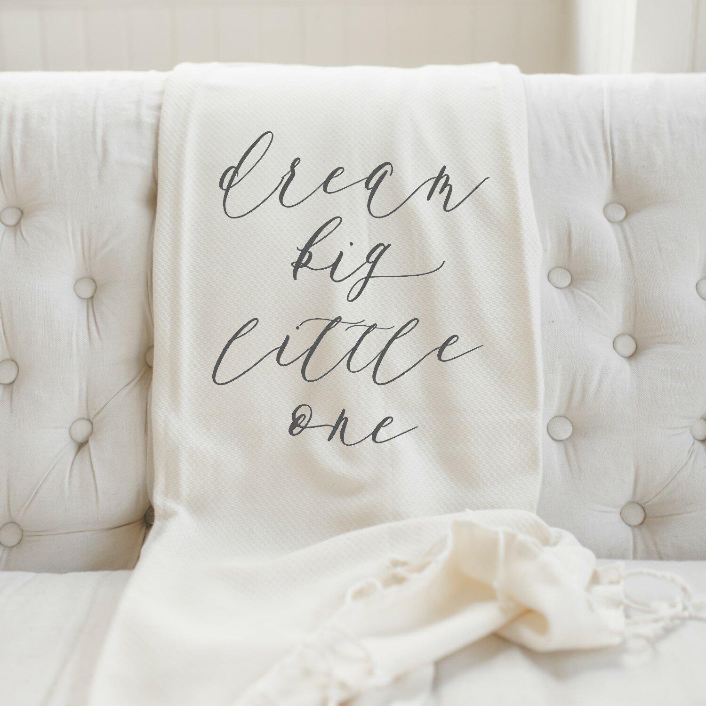 Gracie Oaks Edmondson Dream Big Little One Cotton Blanket Wayfair