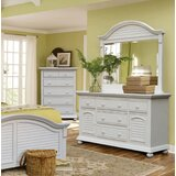 Laguna 5 Drawer Combo Dresser with Mirror by Rosecliff Heights