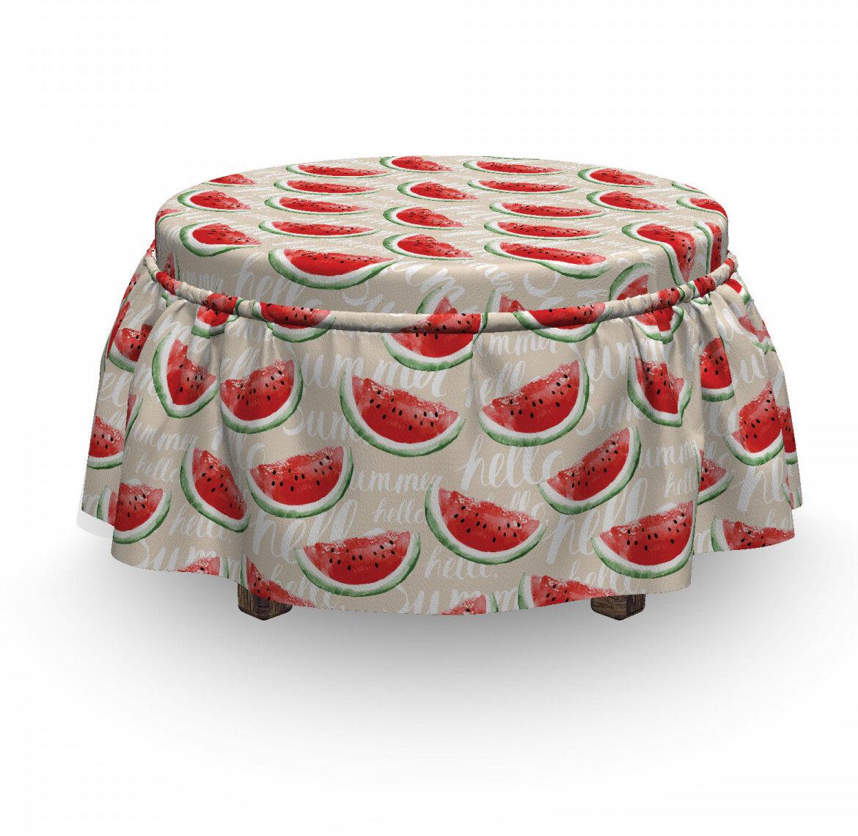 East Urban Home Fruits Melons 2 Piece Box Cushion Ottoman Slipcover Set Wayfair
