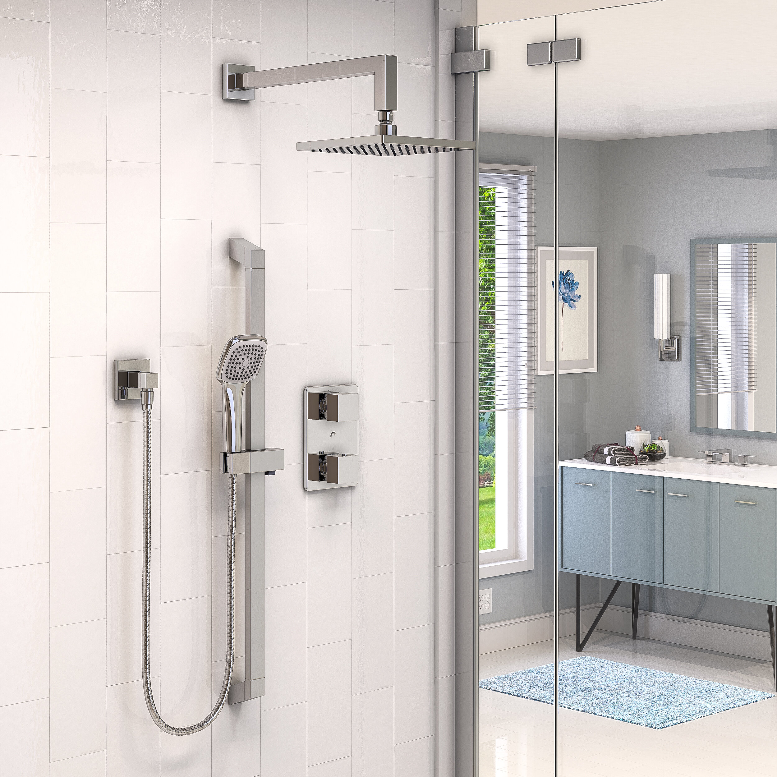Chrome Double Handle Shower Faucets Systems You Ll Love In 2021 Wayfair