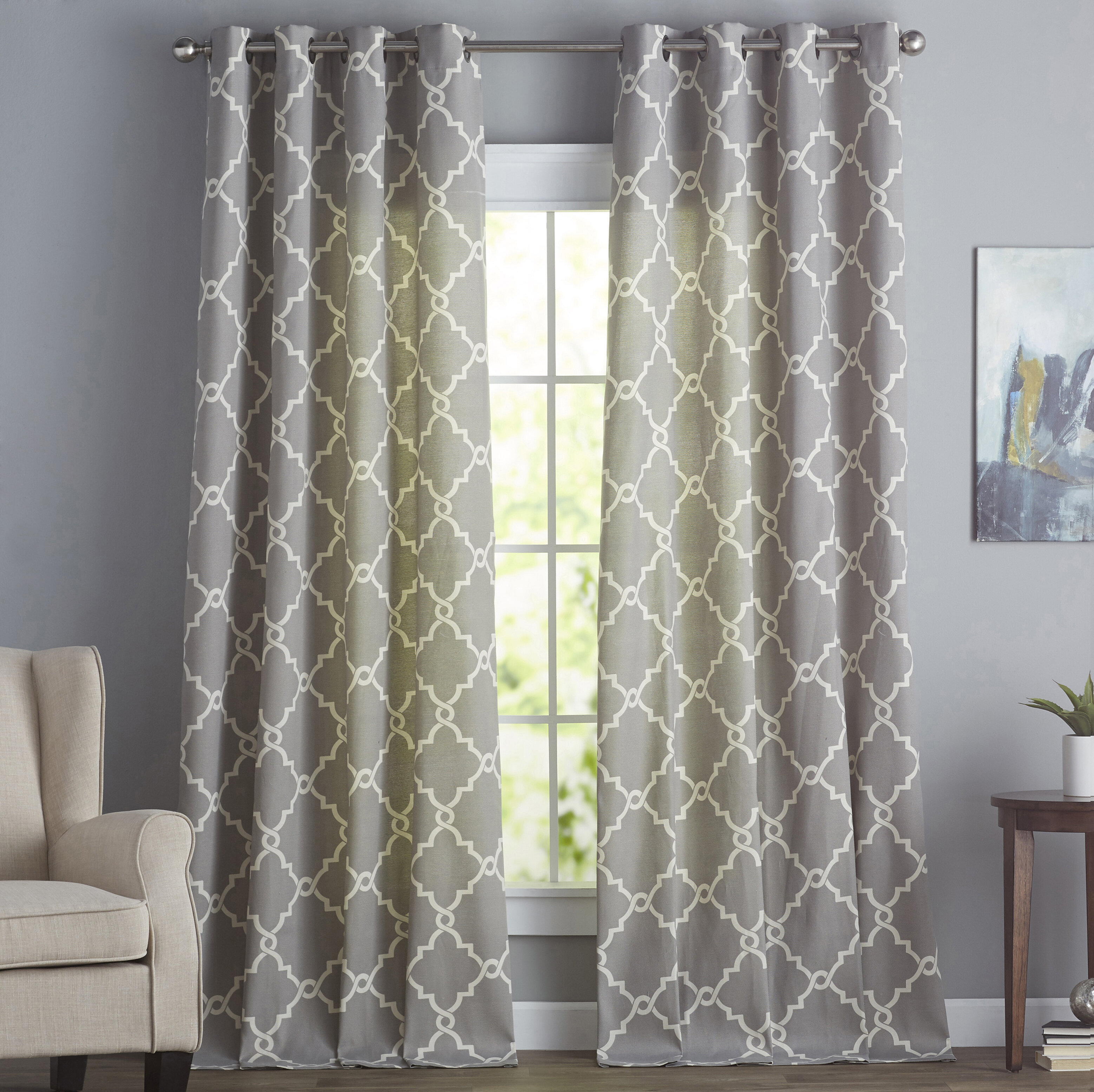 curtains embroidery drapes plaid decorating city birch grommet image geometric mellanie design curtain sheer size modern outstanding of craft pattern full plant room captivating lane casual inspirations with darkening
