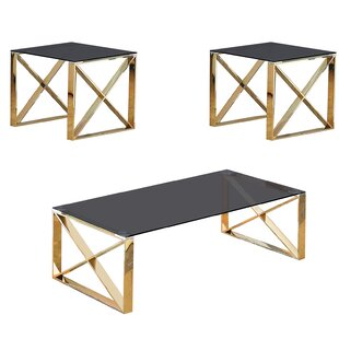 Kelvin 3 Piece Coffee Table Set by Orren Ellis