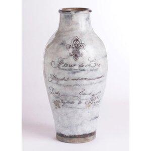 Brecon White Ceramic Grand Urn Table Vase
