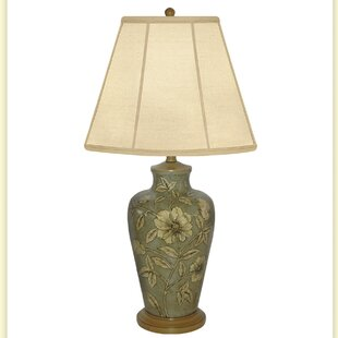 Expose/Flower Hand Painted Porcelain 30 Table Lamp