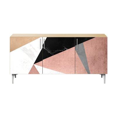 Brayden Studio Lovett Sideboard Color (Base/Top): Chrome/Natural