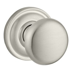 Round Passage Door Knob With Traditional Round Rose