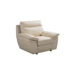 Orren Ellis Eager Leather Armchair