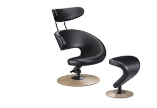 Peel Side Chair and Ottoman by Varier