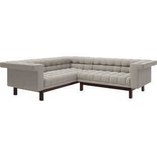 Shop George 114.5x 91 Corner Sectional Sofa by TrueModern