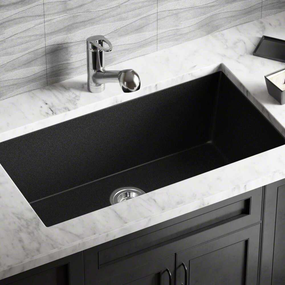 Mrdirect Quartz Granite 32 5 8 L X 18 3 8 W Undermount Kitchen Sink Reviews Wayfair