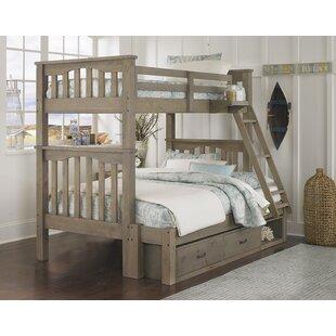 Best Reviews Stella Storage Twin Over Full Bunk Bed ByGrovelane Teen