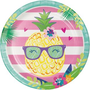 Pineapple Party Paper Dessert Plate (Set of 24)