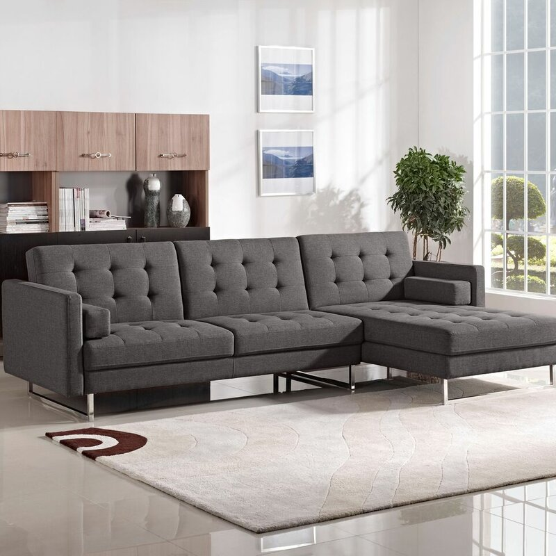 Diamond Sofa Opus Sleeper Sectional Reviews Wayfair
