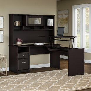 Red Barrel Studio Hillsdale L-Shaped Height Adjustable Computer Desk with Hutch